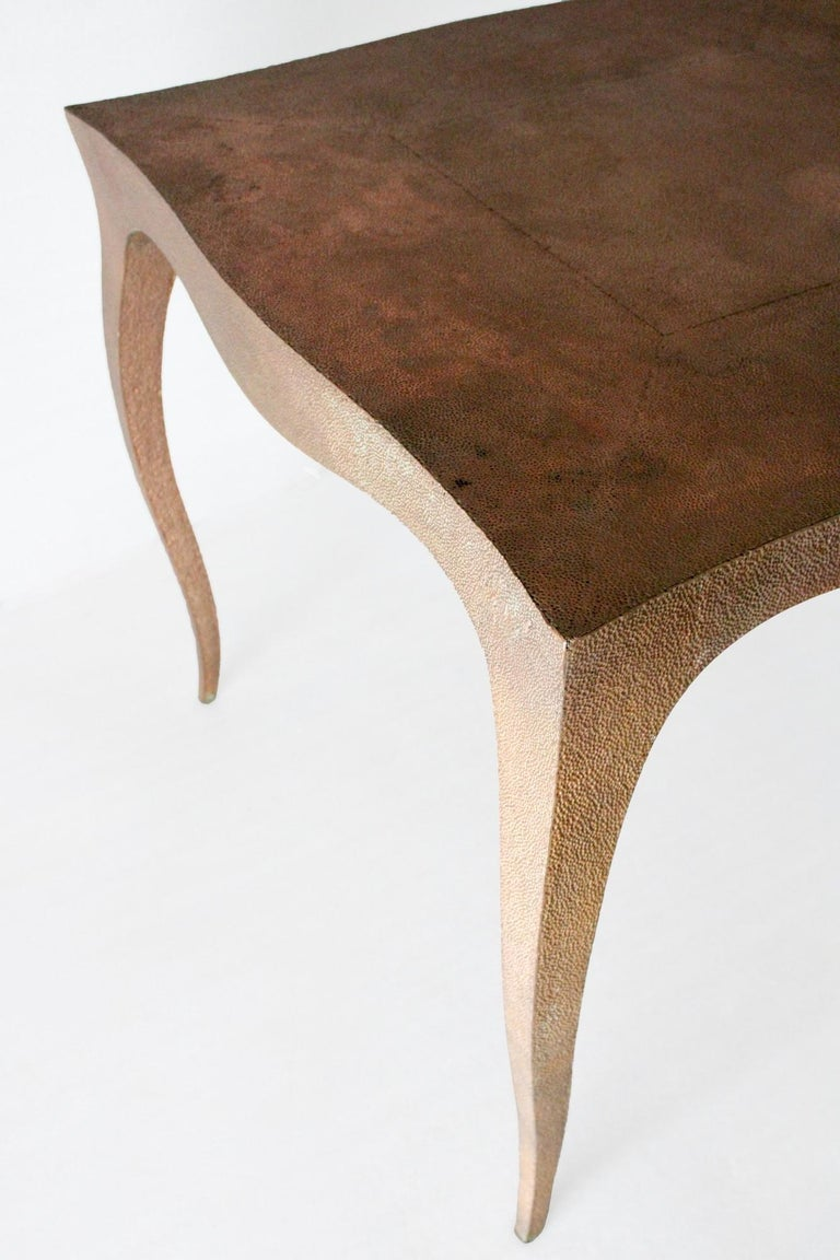 Louise Card Table in Hammered Copper Clad Over Teak by Paul Mathieu In New Condition For Sale In New York, NY