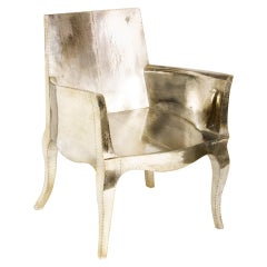 Louise Club Chair in White Metal Over Teak by Paul Mathieu for Stephanie Odegard