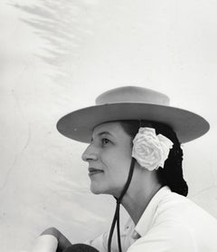 Diana Vreeland with Hat and Rose