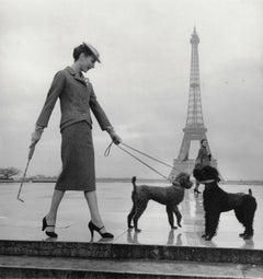Jacqueline In Dior Suit at Eiffel Tower, Paris