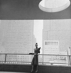 Rita Touhy on Balcony of the MoMA