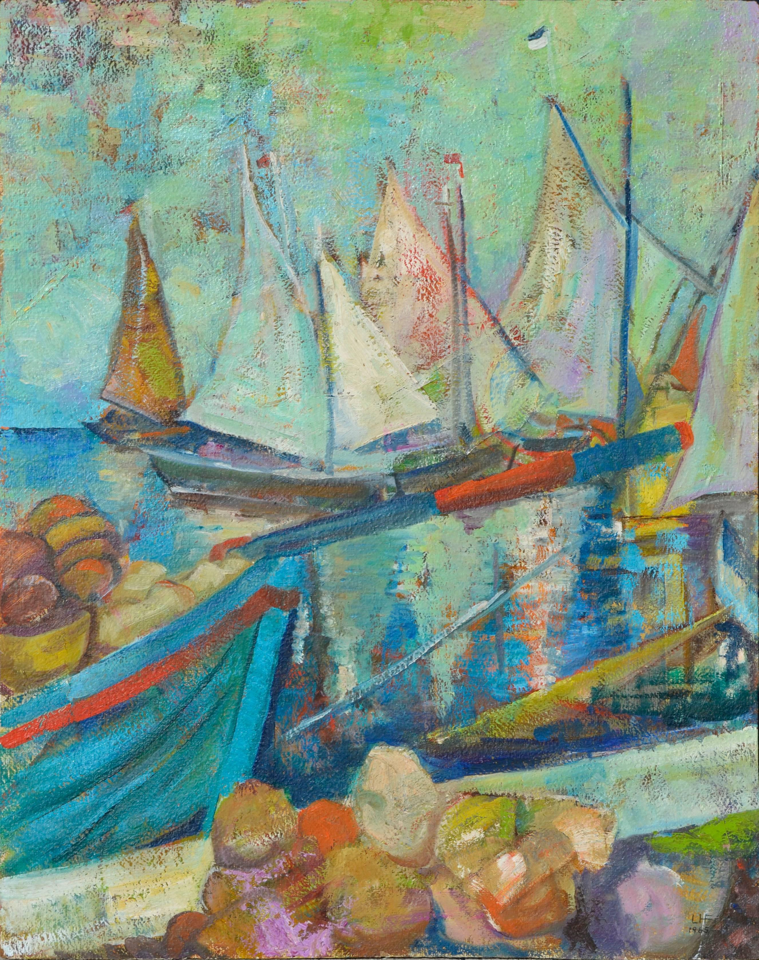 """""""Haitian Sails"""" - Abstracted Seascape"""