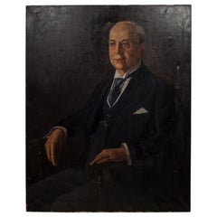 Louise Hahn Oil on Canvas Portrait, 1933