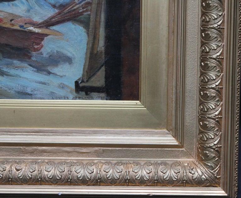 Self Portrait - British Victorian oil painting exhibited art female artist For Sale 4
