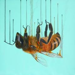 Burnt Sugar - Oil, Acrylic, Spray Paint, Contemporary, Modern, Nature, Canvas