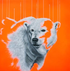 Northern Lights - Oil, Acrylic, Spray Paint, Deep Canvas, Contemporary, Neon