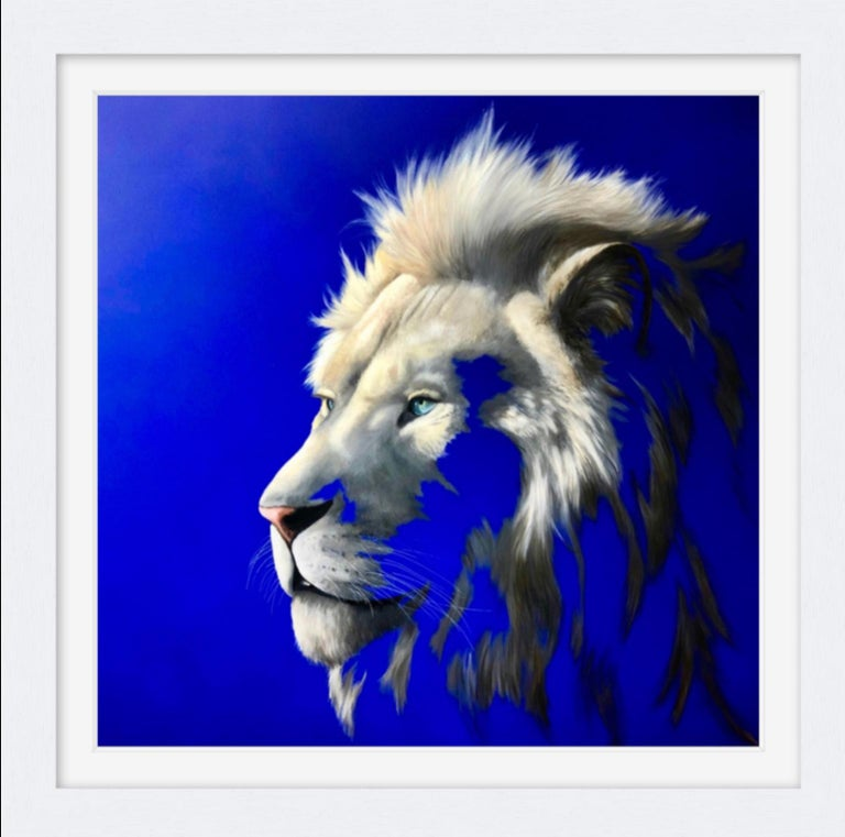 King of a Fading Kingdom by Louise McNaught - Lion Animal Contemporary Print For Sale 1
