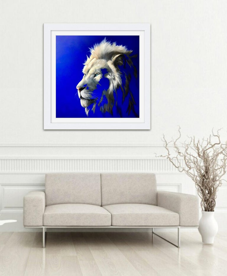 King of a Fading Kingdom by Louise McNaught - Lion Animal Contemporary Print For Sale 2