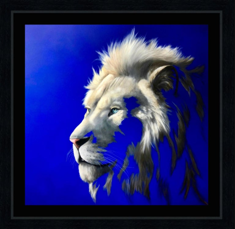 King of a Fading Kingdom by Louise McNaught - Lion Animal Contemporary Print For Sale 3