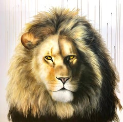 The King XL by Louise McNaught - Lion Animal Contemporary Limited edition Print