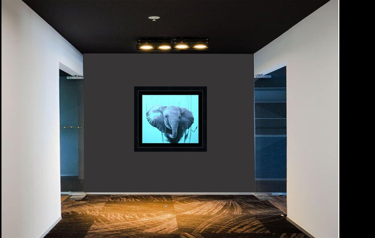 You are a Star by Louise McNaught - Blue Pop Elephant Animal Contemporary Print For Sale 4