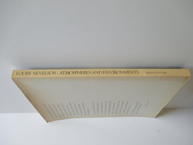 Louise Nevelson Atmospheres and Environments Book In Good Condition In Oakland Park, FL