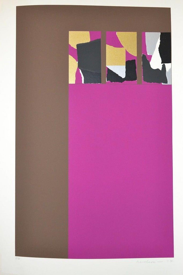 """LOUISE NEVELSON  Untitled, from """"Hommage à Picasso""""  Screenprint in colors, 1974  Signed and dated in pencil, lower right  Numbered 1/90 in pencil, lower left  The total edition was 90, plus 30 in Roman numerals, plus 60 APs.  Published by"""