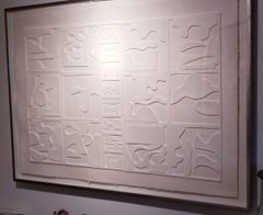 Louise Nevelson, Dawn's Clouds,  Cast Paper on Relief