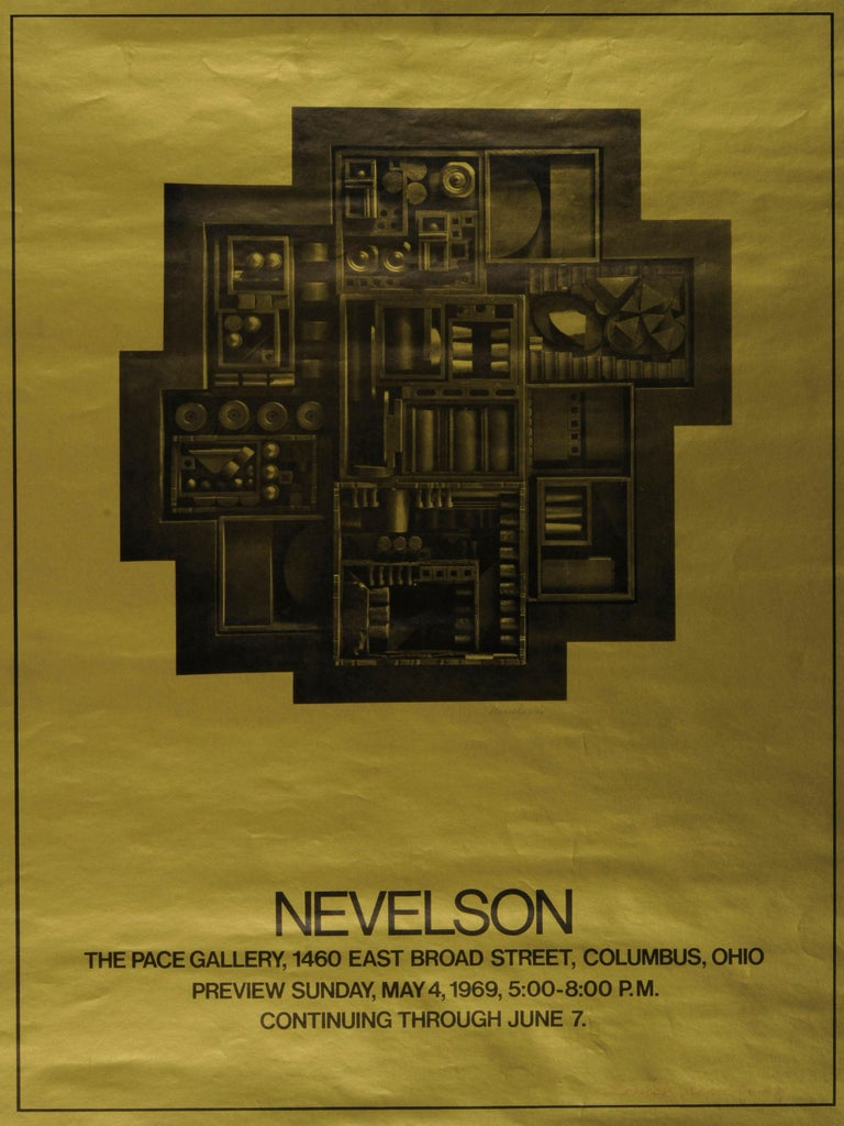 Louise Nevelson Abstract Print - Nevelson  Poster for The Pace Gallery, Columbus