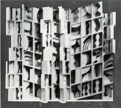 Untitled (Assemblage on Silver Background)