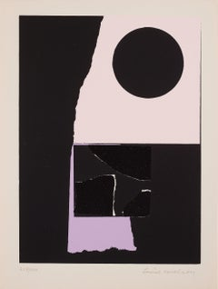 Untitled -- Print, Screen Print, Geometric Abstraction by Louise Nevelson