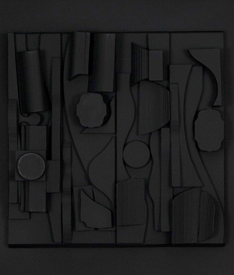 "Louise Nevelson ""Symphony Three"" Sculpture - Black Abstract Sculpture by Louise Nevelson"