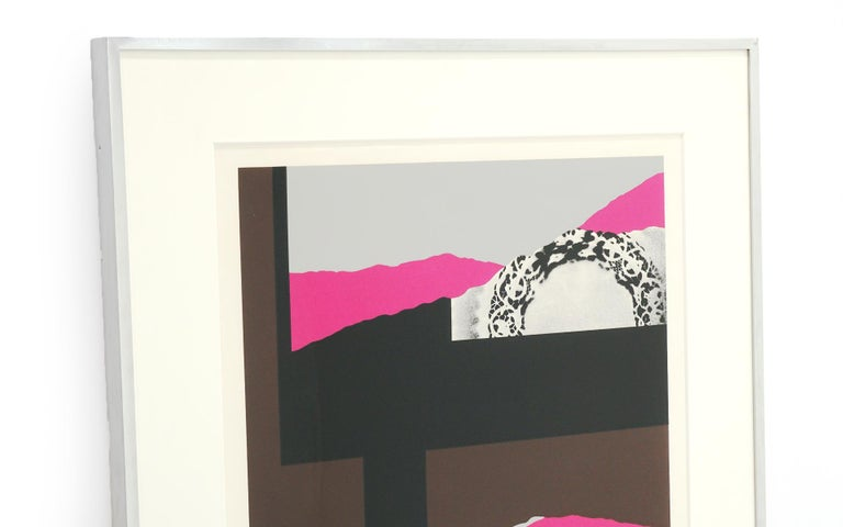 Mid-Century Modern Louise Nevelson Serigraph Collage, Signed and Numbered 147/150, Archival Frame For Sale