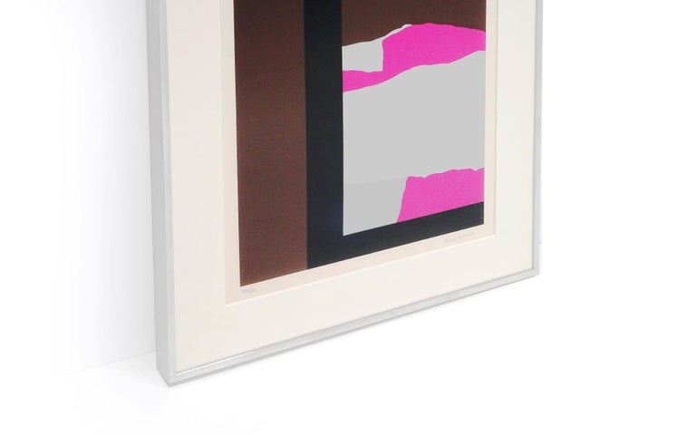 American Louise Nevelson Serigraph Collage, Signed and Numbered 147/150, Archival Frame For Sale