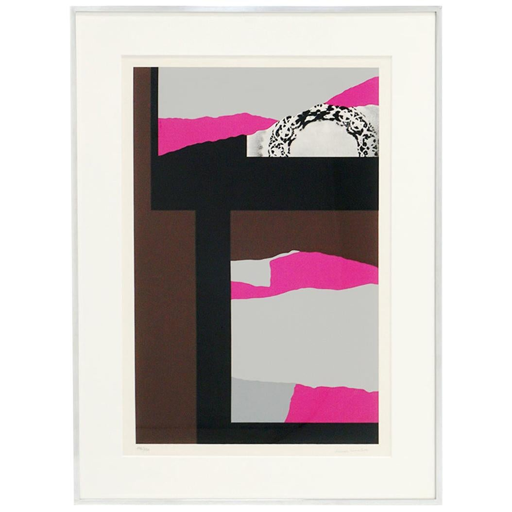 Louise Nevelson Serigraph Collage, Signed and Numbered 147/150, Archival Frame