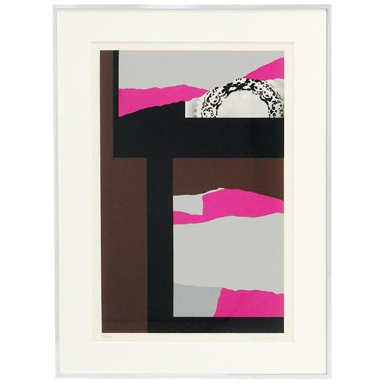 Louise Nevelson Serigraph Collage, Signed and Numbered 147/150, Archival Frame For Sale