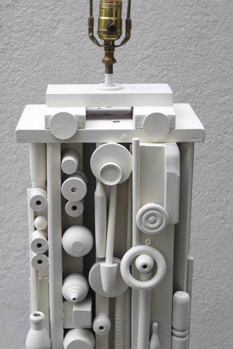 Louise Nevelson Style Floor Lamp For Sale 7