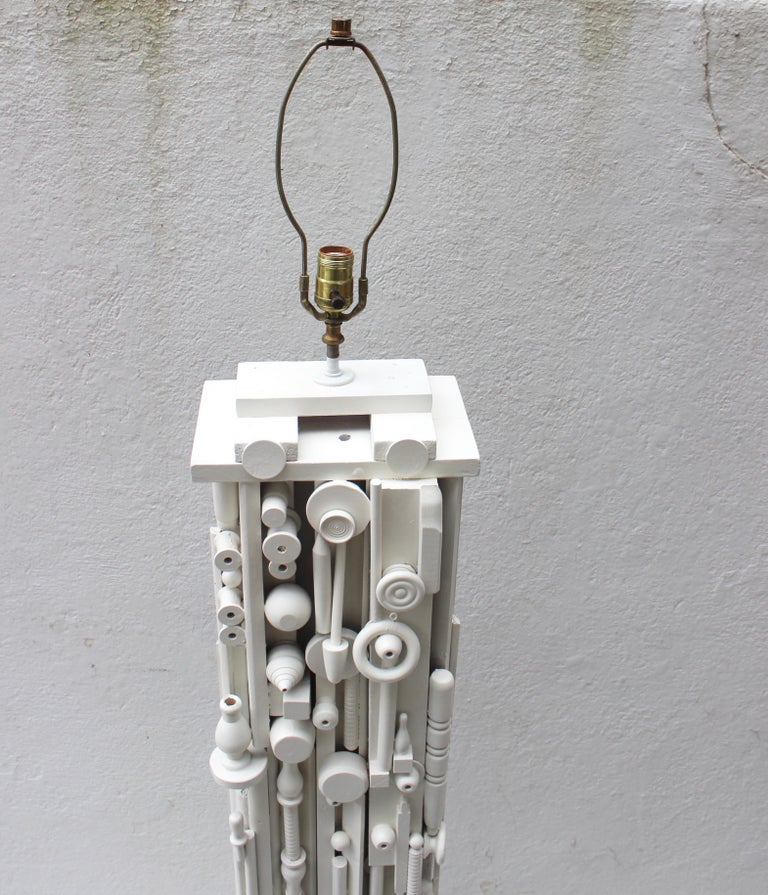 20th Century Louise Nevelson Style Floor Lamp For Sale