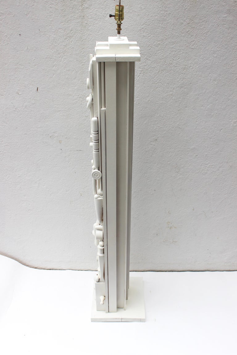 Louise Nevelson Style Floor Lamp For Sale 5