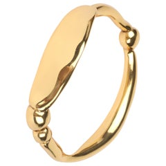 Louise Olsen 24 Karat Gold Plate Large Liquid Bangle