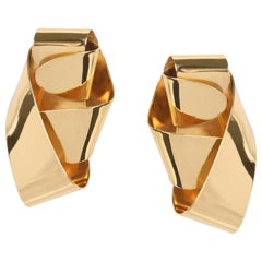 Louise Olsen 24 Karat Gold Plate Medium Wrap Earrings