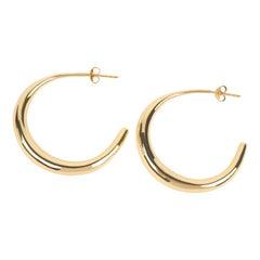 Louise Olsen 24 Karat Gold Plate Large Liquid Hoop Earrings