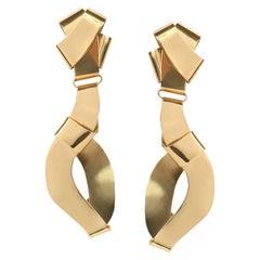 Louise Olsen 24 Karat Gold Plate Large Wrap Earrings
