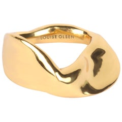 Louise Olsen 24 Karat Gold Plate Liquid Twist Ring