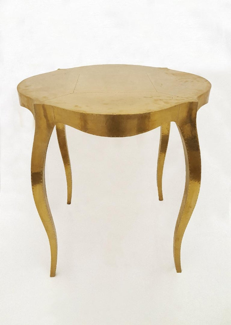 Metal Louise Round Table by Paul Mathieu for Stephanie Odegard For Sale