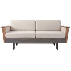 Louise Sofa, Wool, American Hardwood and Steel