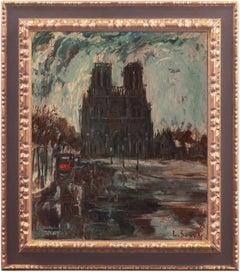 'Paris, Notre Dame after the Storm', Salon des Artistes Français, Woman Artist