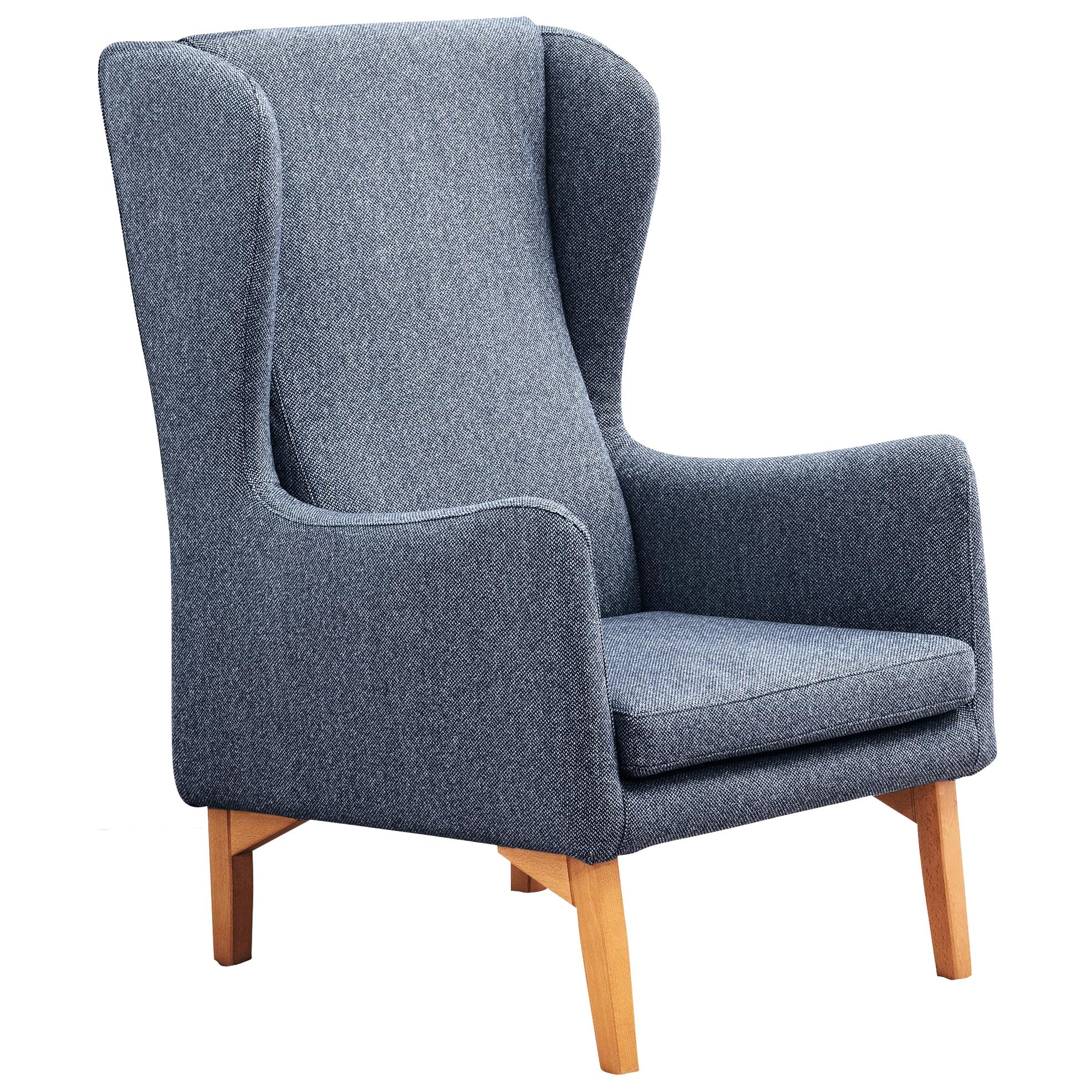 Louise Upholstered Armchair in Beechwood Legs, by Miniforms Lab