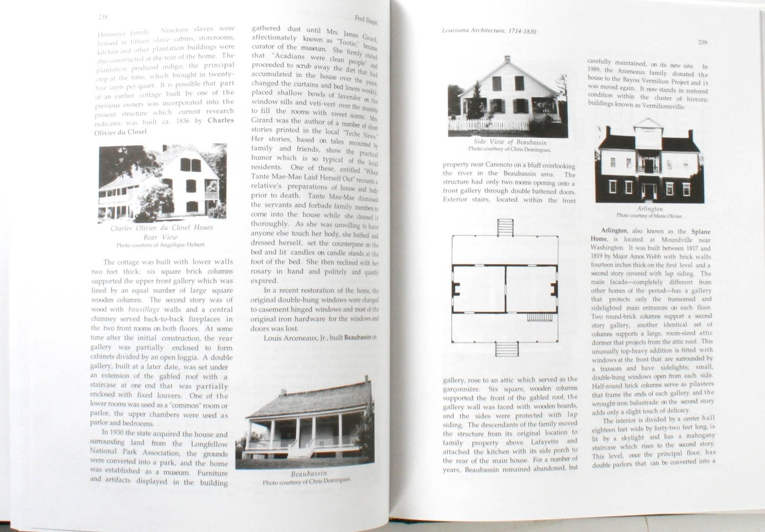 Louisiana Architecture 1714-1830\' Book by Fred Daspit, First Edition ...