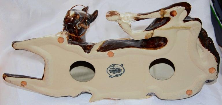 Louisville Stoneware Glazed Horse Figurine In Fair Condition For Sale In Cookeville, TN
