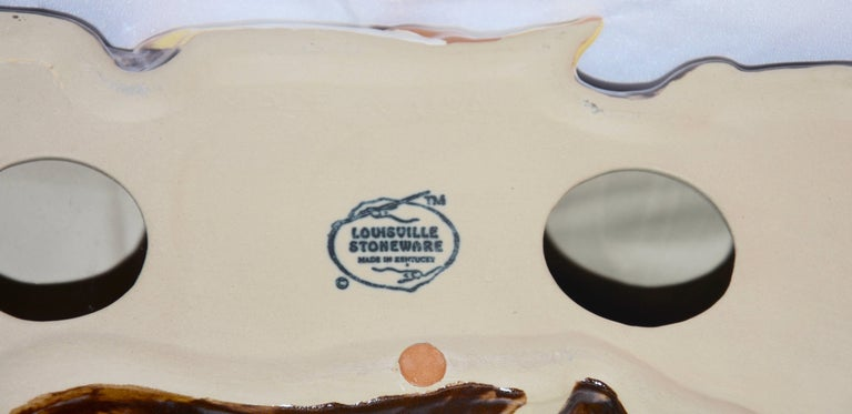 20th Century Louisville Stoneware Glazed Horse Figurine For Sale