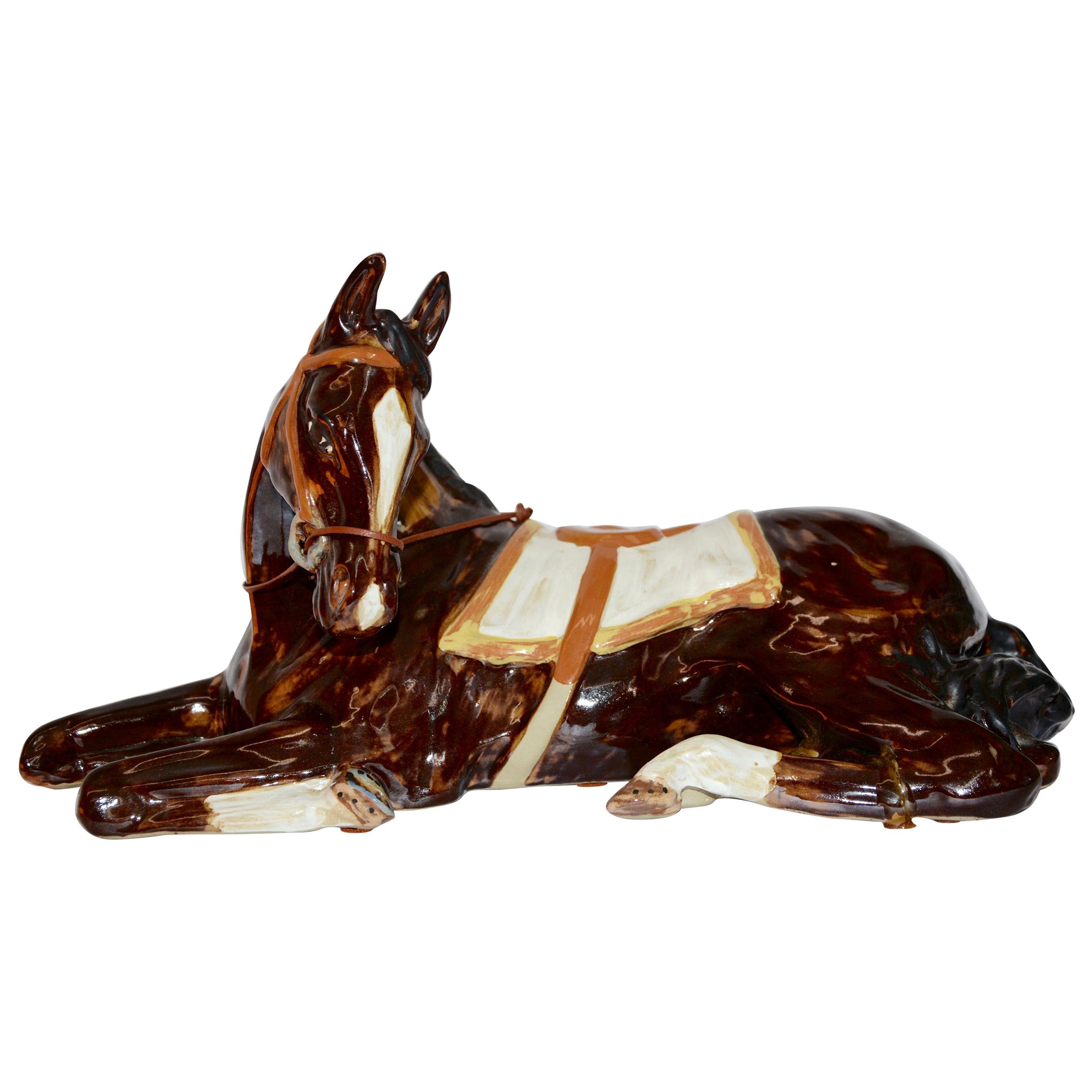 Louisville Stoneware Glazed Horse Figurine