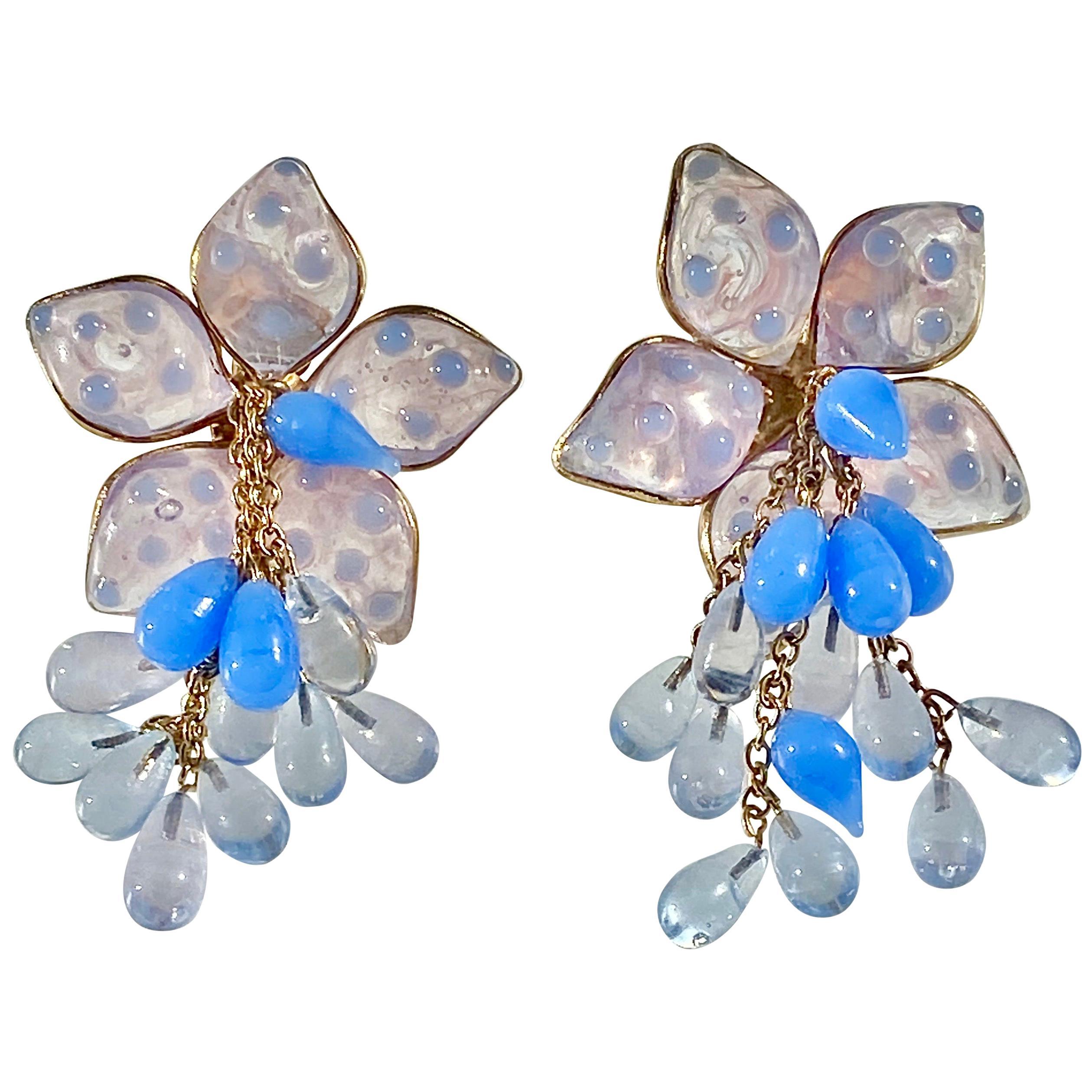 Loulou de la Falaise 1980s Couture Earrings