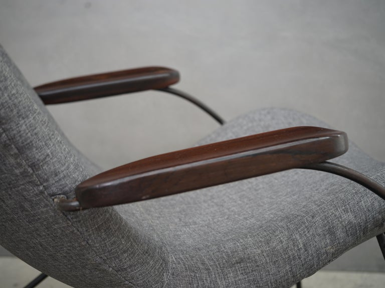Lounge Armchair by Carlo Hauner and Martin Eisler, Brazilian Midcentury Design For Sale 1