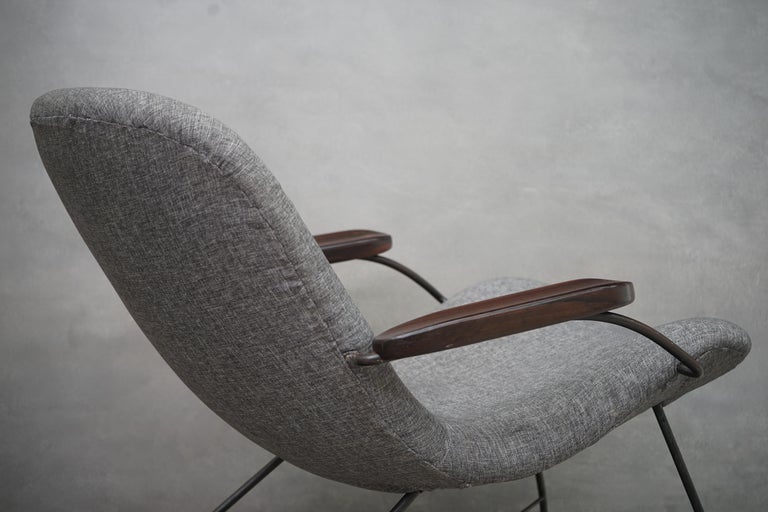 Lounge Armchair by Carlo Hauner and Martin Eisler, Brazilian Midcentury Design For Sale 2