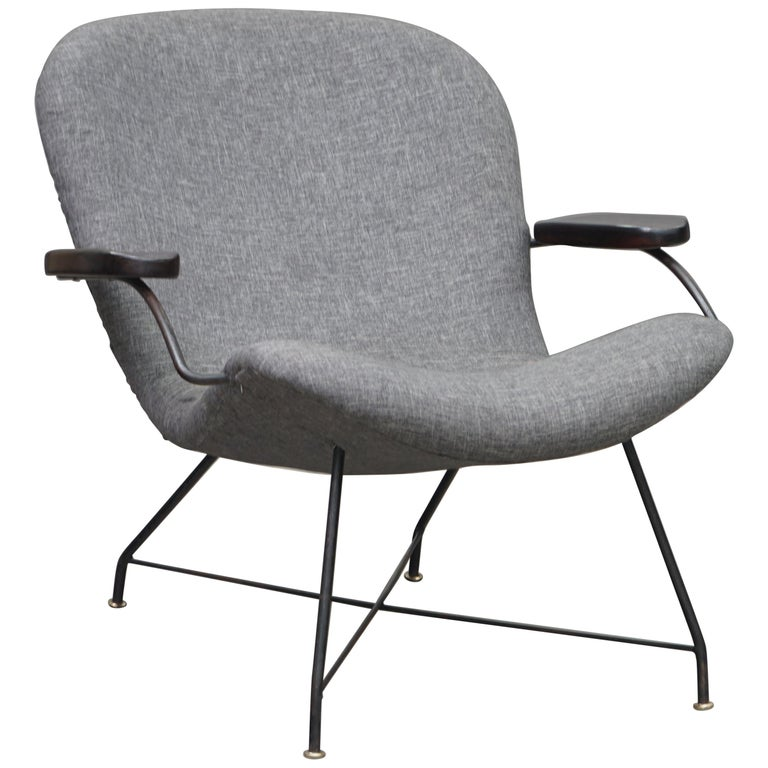 Lounge Armchair by Carlo Hauner and Martin Eisler, Brazilian Midcentury Design For Sale