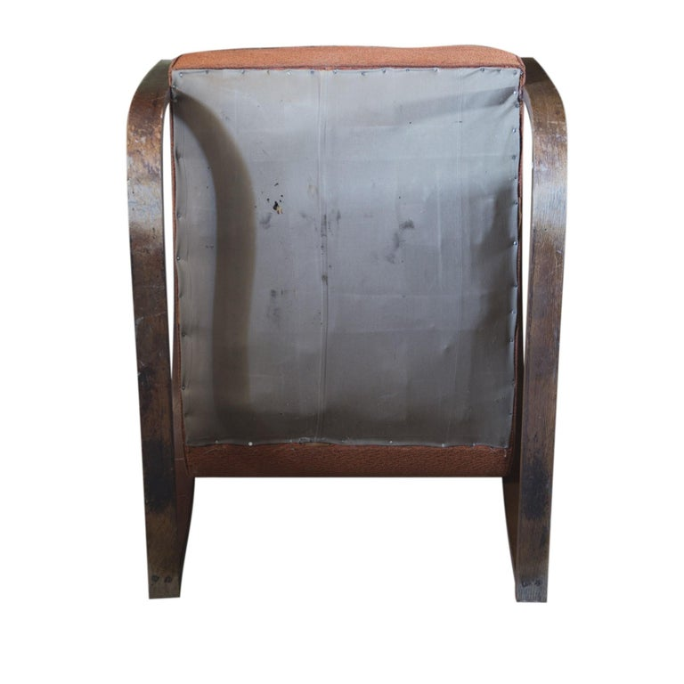 Lounge Armchair H-70 Desingned by Jindrich Halabala, 1930s In Good Condition For Sale In Prague 8, CZ
