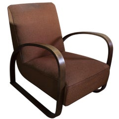 Lounge Armchair H-70 Desingned by Jindrich Halabala, 1930s