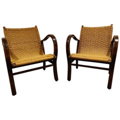 Lounge Armchairs in Papercord by Vroom & Dreesman