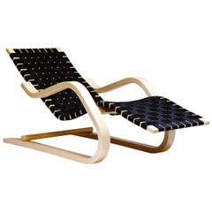 Lounge Chair 43 in Birch and Black by Alvar Aalto & Artek